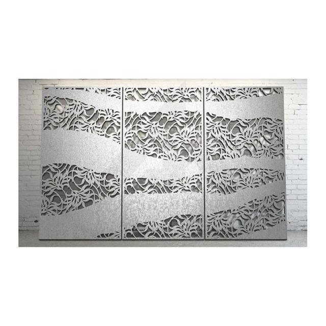 银灰色厚板雕刻铝窗花