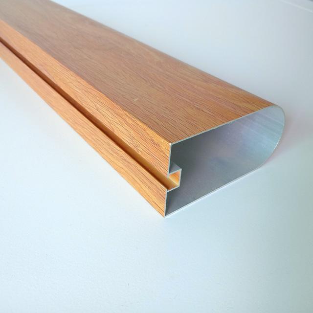 木纹色凹槽半圆管吊顶铝方管