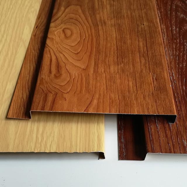 木纹色G形有缝铝条扣