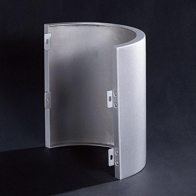 银灰色圆形包柱铝单板