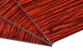 红色桉木纹理辊涂铝塑板侧面