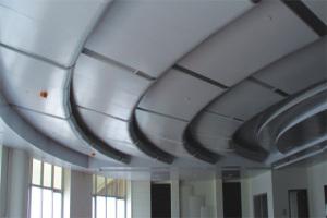阶梯会议厅造型铝吊顶