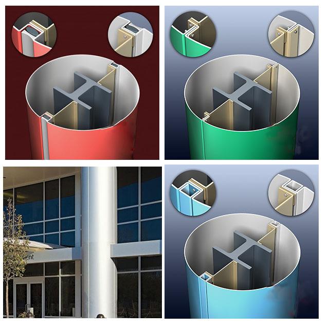 包柱铝单板安装效果