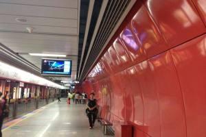 地铁站高光自洁墙面铝单板
