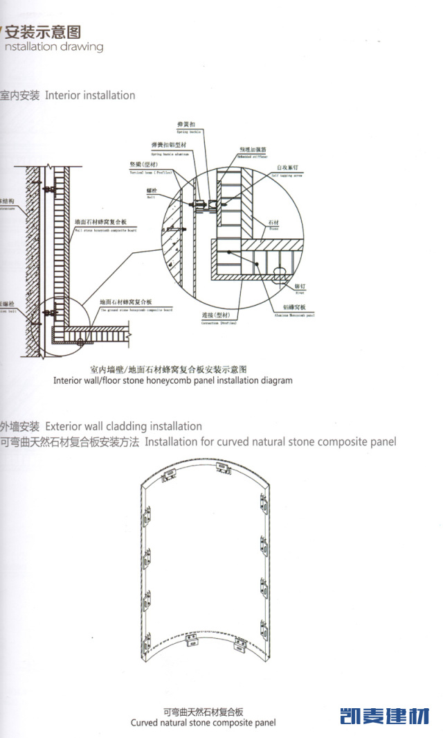 包柱铝蜂窝板安装结构