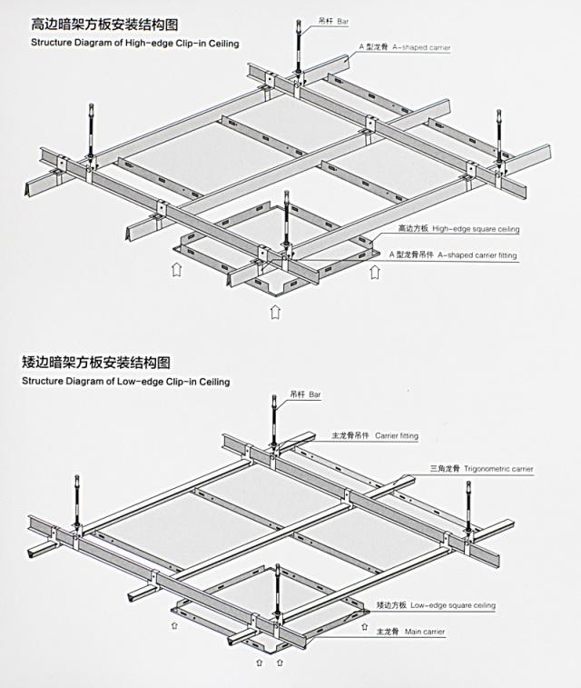 铝扣板安装结构