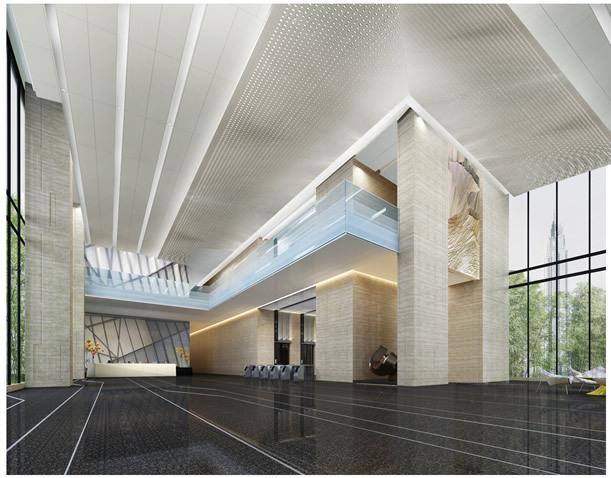 室内多级分层冲孔铝单板吊顶
