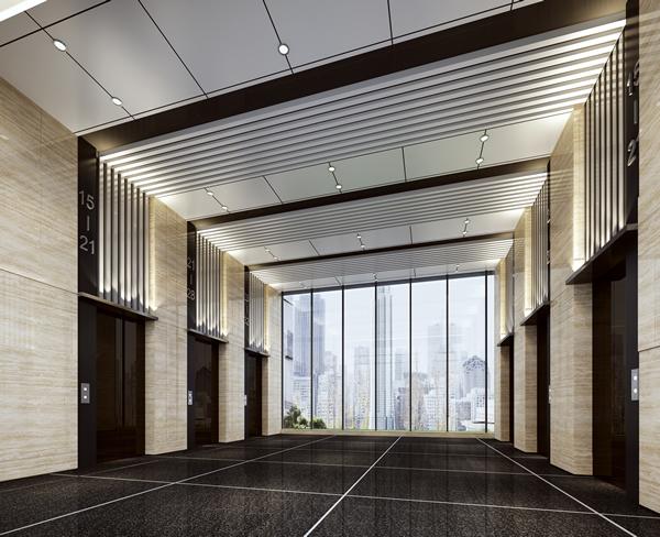 电梯间吊顶铝单板