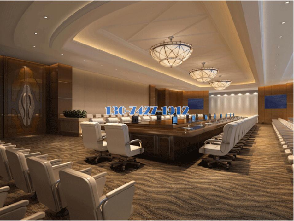 峥嵘大厦商务楼装修工程会议室装造型铝单板