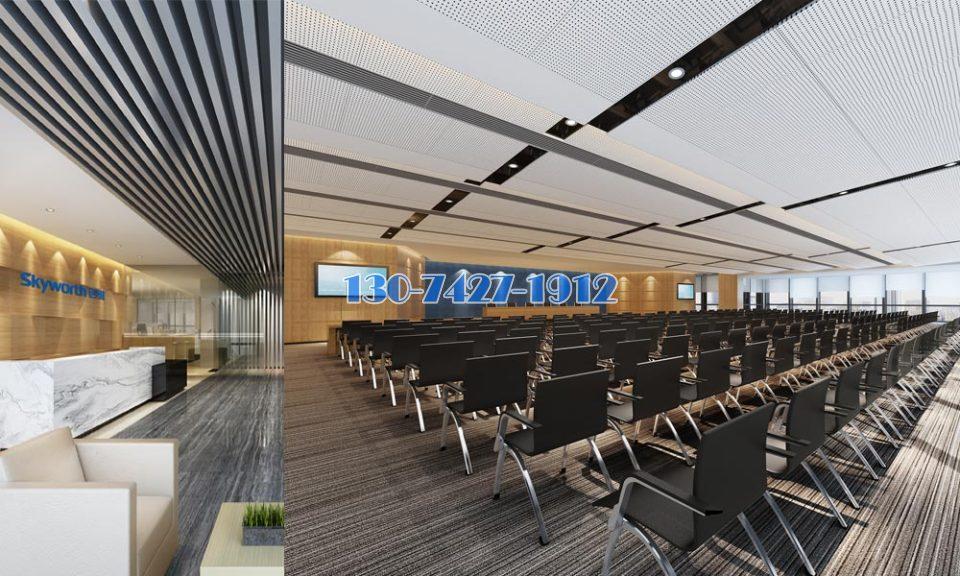 峥嵘大厦商务楼装修工程办公区装铝扣板