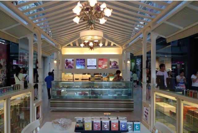 广贸百货商场室内装修工程个体商铺铝方通吊顶