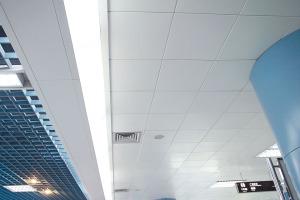 地铁大堂吊顶平面铝扣板