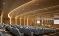 金融中心会议厅双曲弧形木纹铝单板