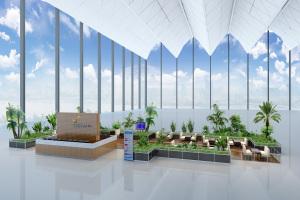 机场票务中心三角形吊顶铝单板