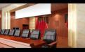 主席台背景墙仿石纹铝板包梁包柱