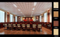 会议厅仿石纹铝板包梁包柱
