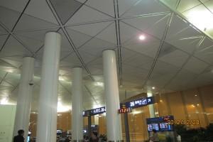 机场三角造型铝单板吊顶