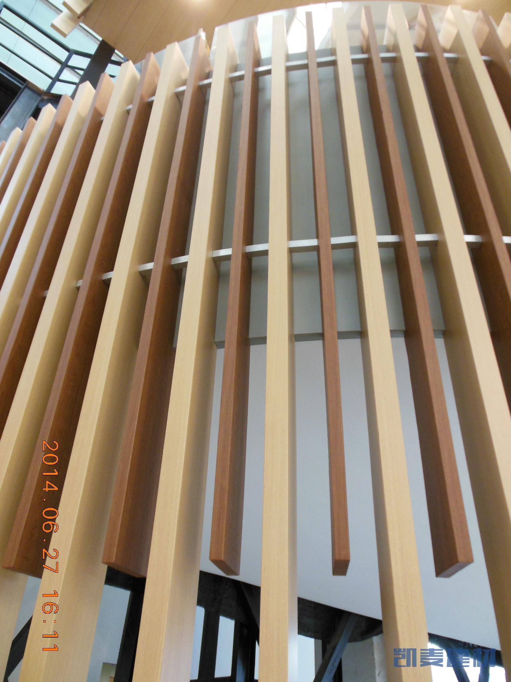 弧形铝方通串联式安装