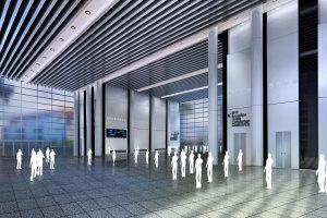 重庆江北区展览厅型材铝方通吊顶