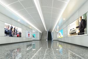 陶瓷铝单板墙面高光效果
