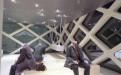 服装店装修铝拉网板吊顶