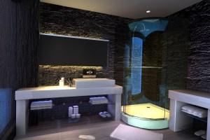 酒店房间仿石纹蜂窝铝板