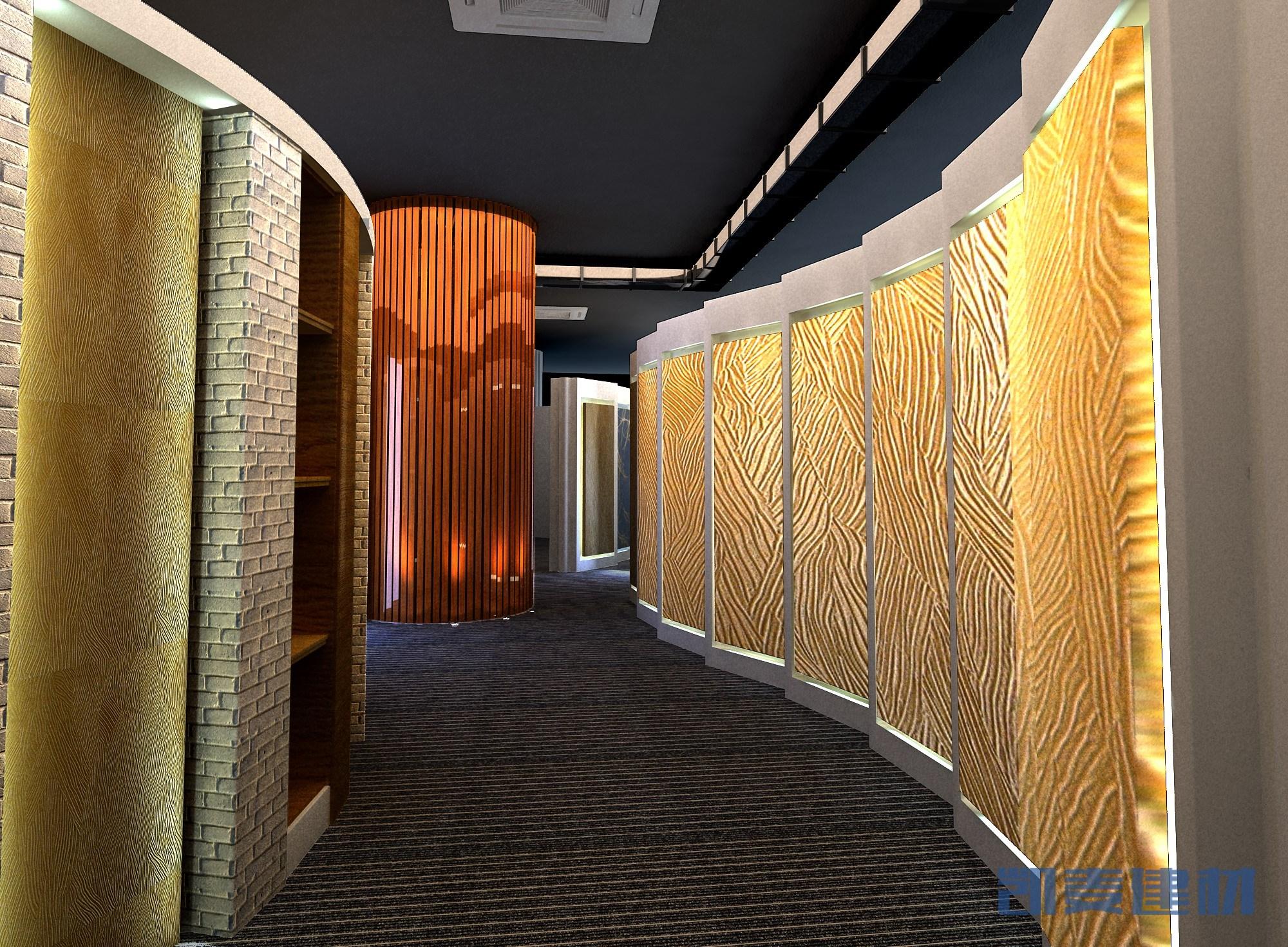 3D手感木纹墙面铝单板