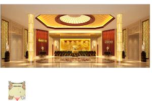 酒店大堂墙面木纹铝单板