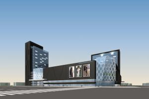 商业大楼整体外墙铝单板和广告橱窗