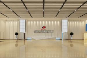 中国化学工程第七分公司大厅吊顶木纹铝方通