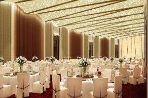 皇家高级宴会厅大堂花式雕刻半透光造型铝板灯饰