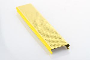 黄色矮边C型冲孔100面宽铝条扣