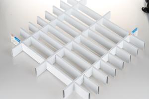 45*15白色长方形铝格栅