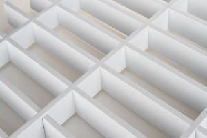 白色宽底15、20mm长方形铝格栅