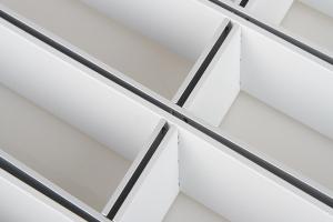 长方形铝格栅白色喷粉
