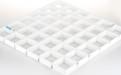 白色方形铝格栅天花