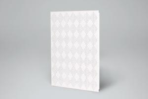 白色小方格冲孔铝扣板