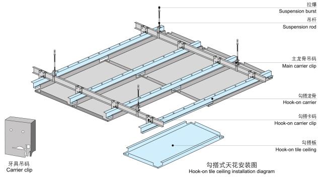 勾搭铝板安装节点