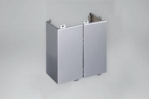 银灰色幕墙铝单板