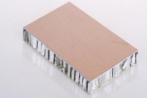 木纹铝蜂窝板截面细节图