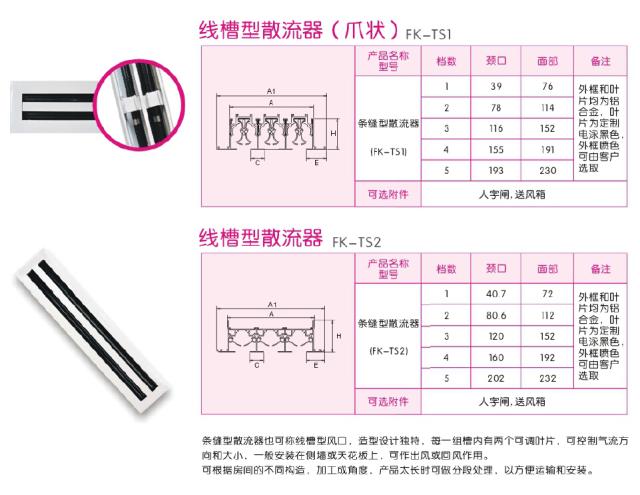 线槽散流器规格尺寸