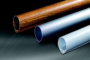 木纹色、银灰色型材铝圆管