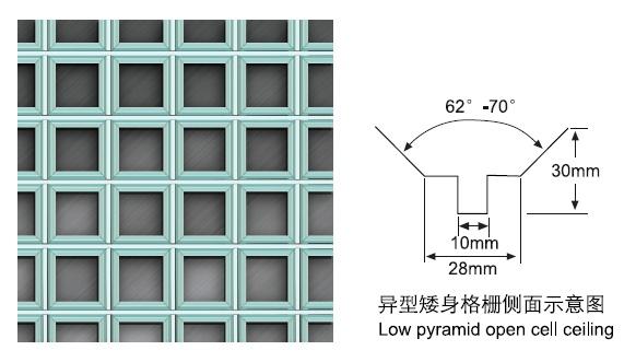 窄边V型铝格栅规格尺寸
