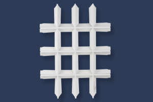 V型铝格栅正面图