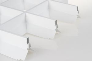 V型铝格栅侧面图