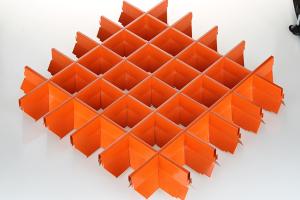 橙色深V型铝格栅