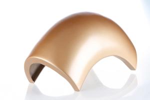双曲双弧拱形铝单板正面图