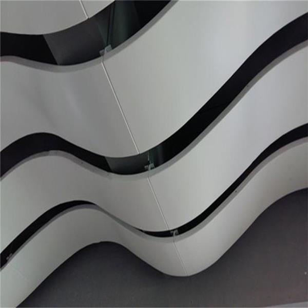 波浪形弧形造型铝单板吊顶