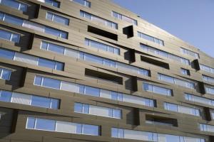 MacAllen大厦公寓窗台凹凸造型铝单板