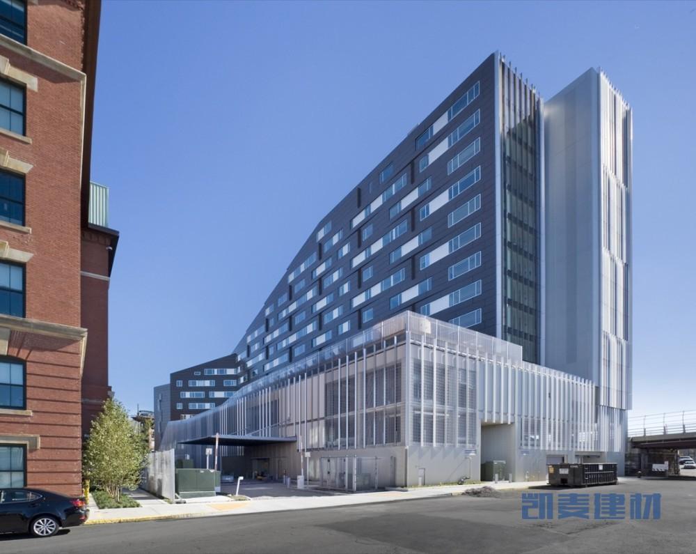 MacAllen大厦公寓外墙整体仰视图